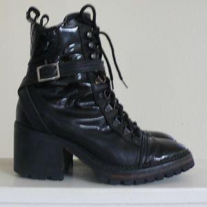 The Kooples Biker Combat Boots